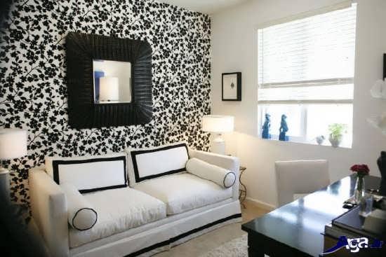 کاغذ دیواری های اتاق پذیرایی جدید