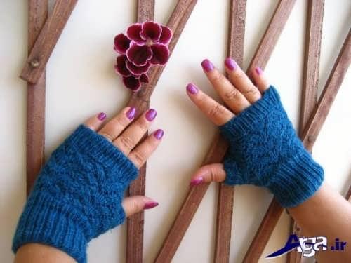 آموزش بافتن دستکش بدون انگشت
