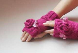آموزش بافت دستکش با دو مدل متفاوت