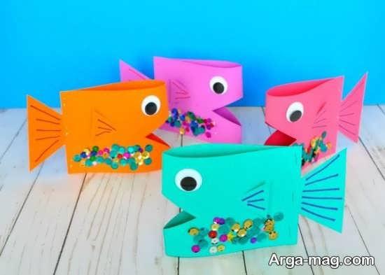 ساخت کاردستی ماهی برای روز کودک