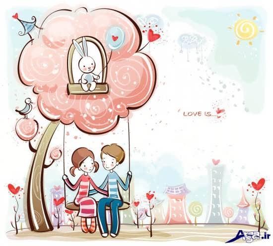 اانواع عکس عاشقانه کارتونی