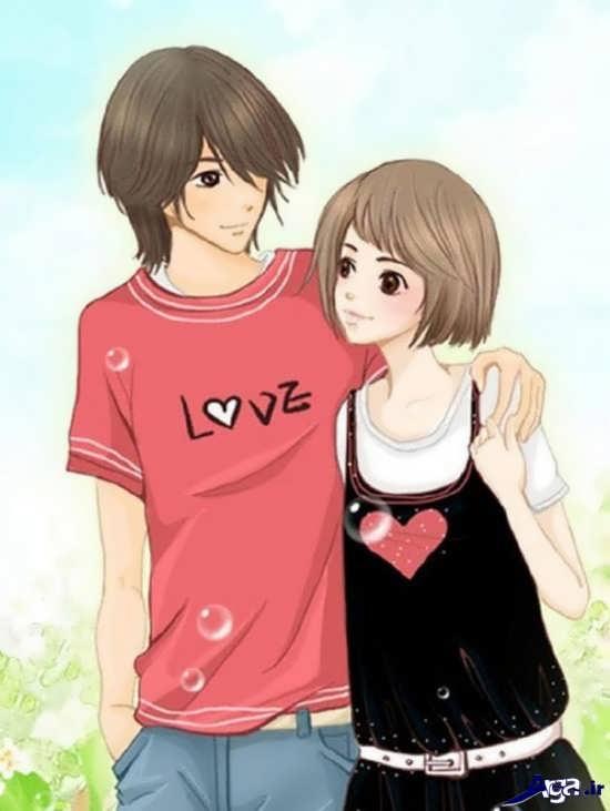 عکس های زیبا و جدید عاشقانه کارتونی