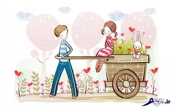انواع عکس عاشقانه کارتونی زیبا