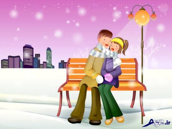 زیباترین عکس عاشقانه کارتونی