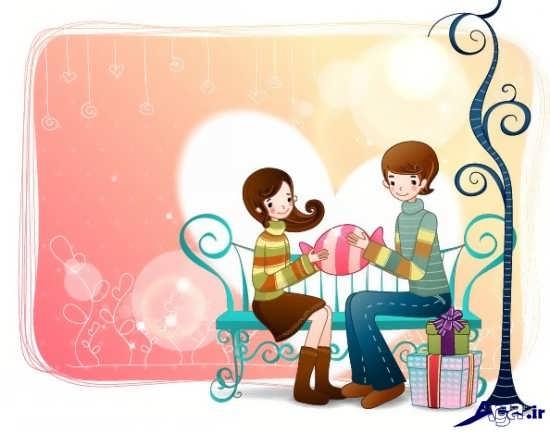 عکس عاشقانه کارتونی زیبا