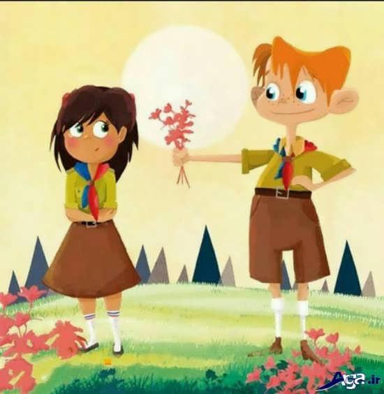 انواع تصاویر عاشقانه کارتونی برای پروفایل