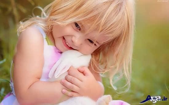 تصویر زیبای لبخند دخترانه