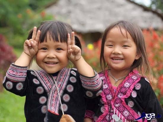 عکس لبخند کودکان بازیگوش