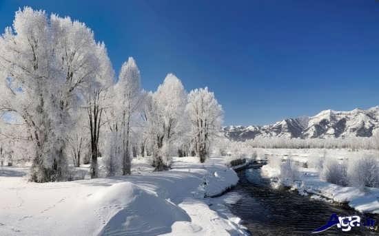 منظره زیبا از فصل زمستان