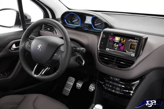 نمای داخلی اتومبیل پژو2008