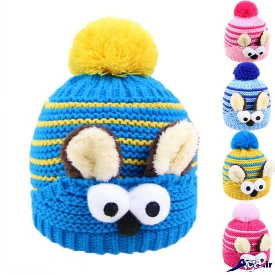 انواع کلاه بافتنی زیبای بچگانه