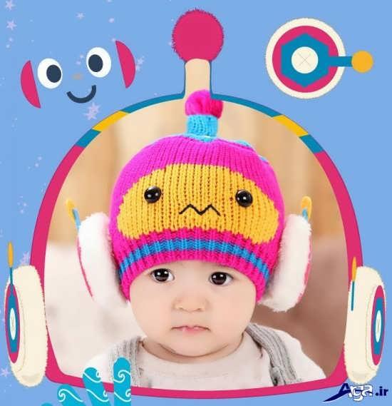 انواع کلاه بافتنی فانتزی بچگانه