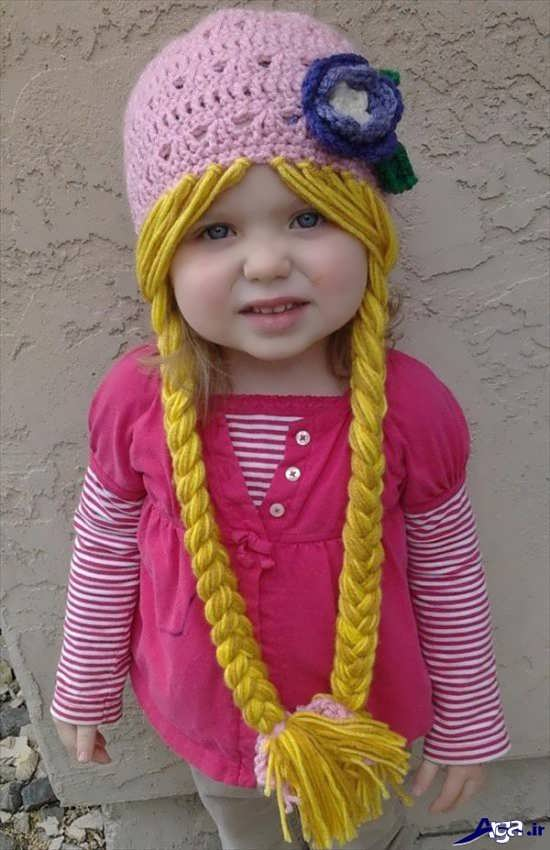 انواع کلاه بافتنی بچگانه دخترانه