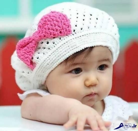 کلاه بافتنی زیبای دخترانه