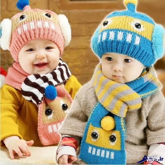 کلاه های زیبای بافتنی کودک