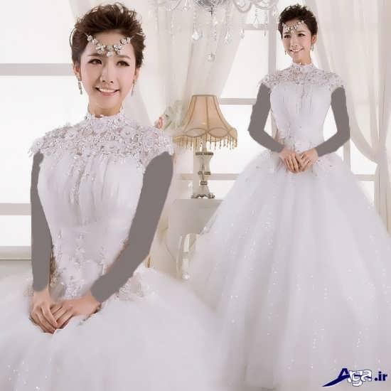 زیباترین و جدیدترین مدل لباس عروس کره ای