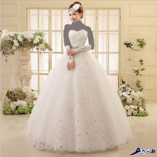 مدل لباس عروس کره ای بسیار جذاب