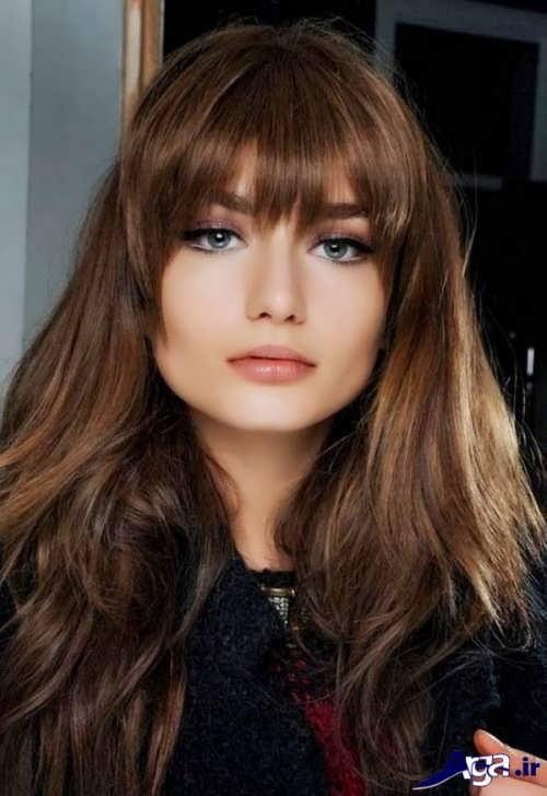 مدل موی زیبا و جدید چتری