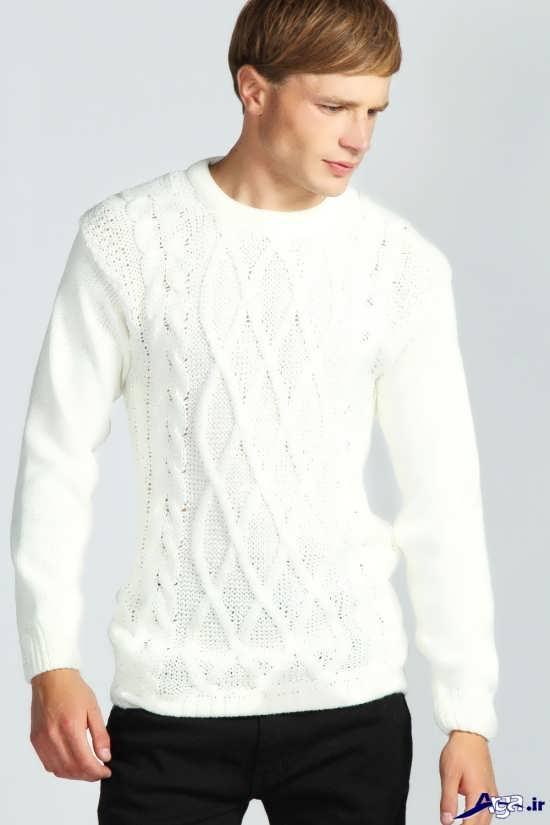 انواع بلوز بافتنی سفید مردانه