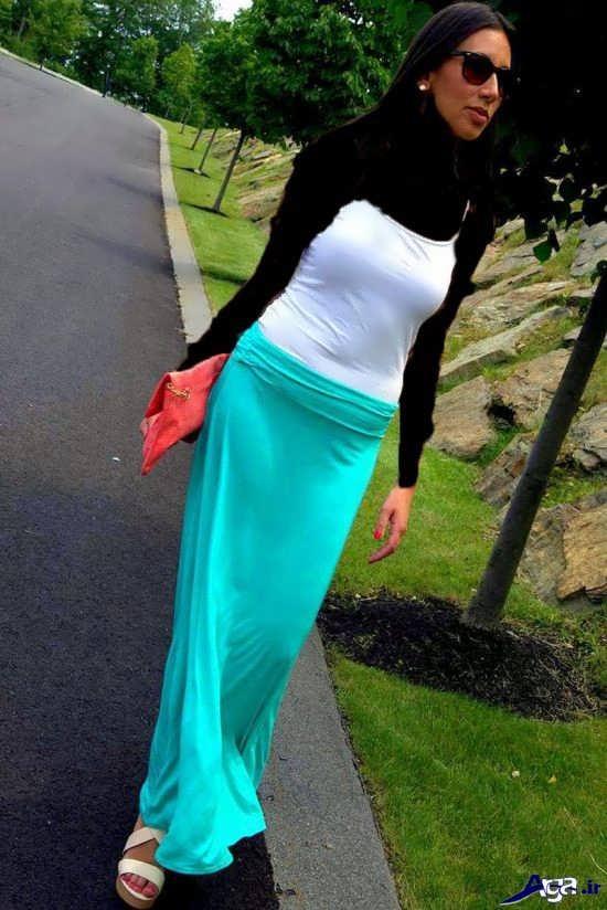 شیک ترین دامن بلند دخترانه