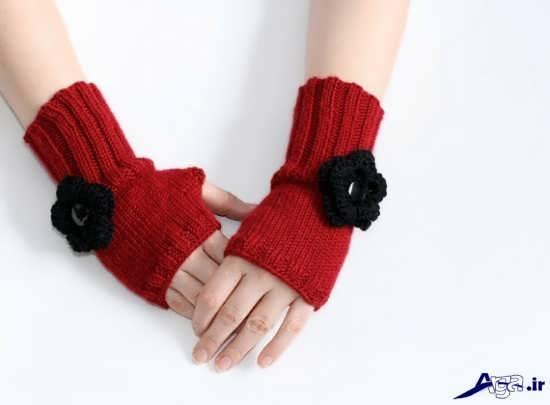 دستکش بافتنی دخترانه زیبا