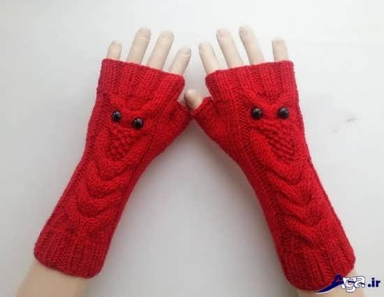 مدل دستکش بافتنی دخترانه فانتزی