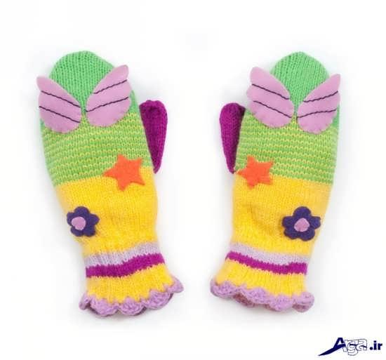 انواع مدل دستکش بافتنی بجگانه