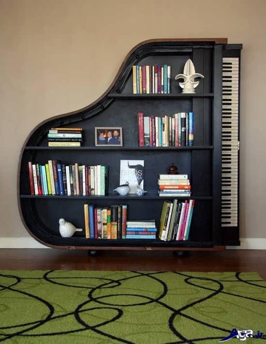 قفسه کتاب زیبا و مدرن