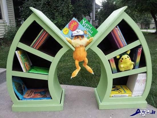 قفسه کتاب زیبای کودک