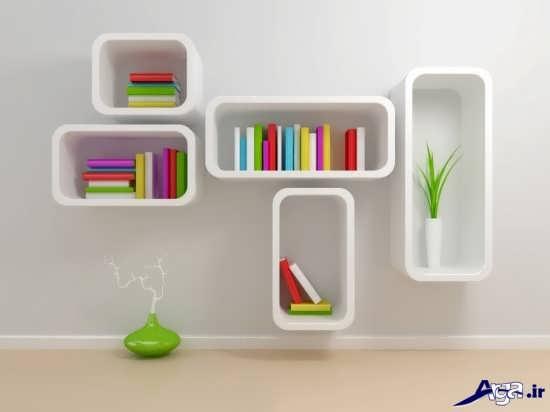 انواع مدل قفسه کتاب مدرن