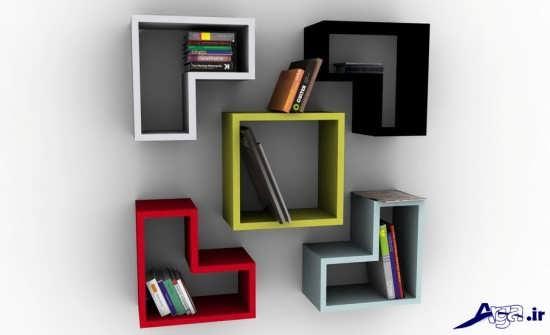 انواع مدل های زیبای قفسه کتاب
