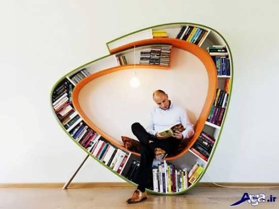 انواع قفسه کتاب زیبا و مدرن