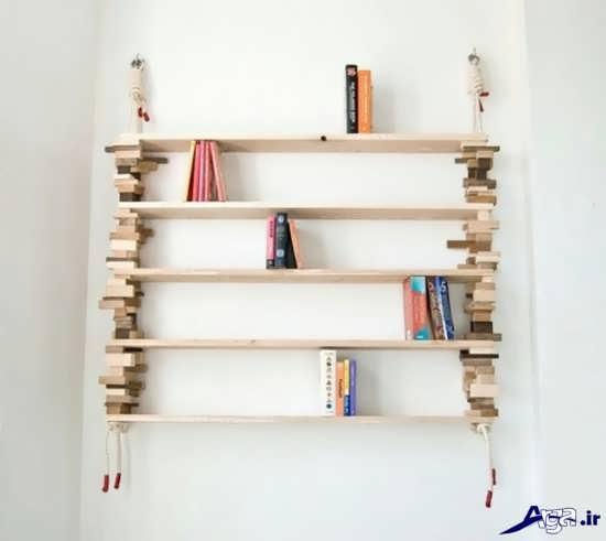 مدل قفسه بسیار زیبا و خلاقانه کتاب