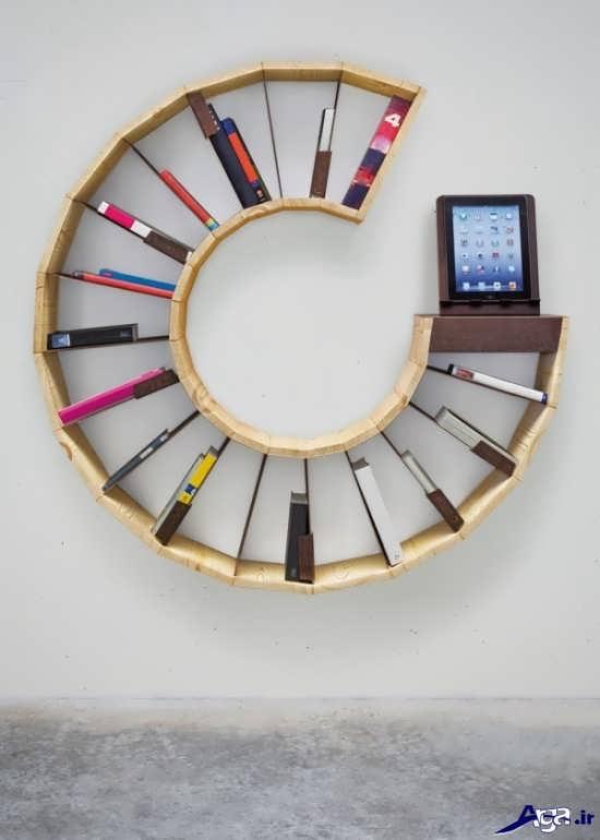 مدل قفسه کتاب بسیار جالب