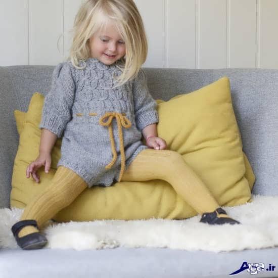 انواع مدل لباس بافتنی بچه گانه زیبا