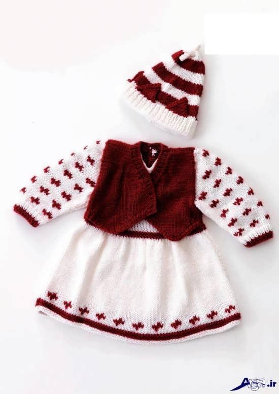 لباس بافتنی بچگانه زیبا