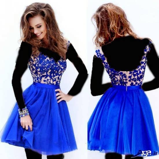 شیک ترین مدل پیراهن کوتاه آبی زنانه