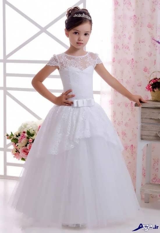 انواع مدل های زیبا و جذاب لباس عروس بچه گانه