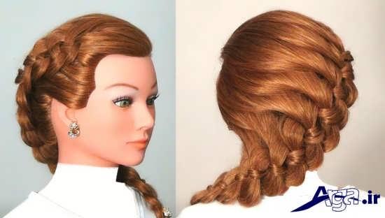 آرایش موی زیبا زنانه و دخترانه همراه با بافت مو