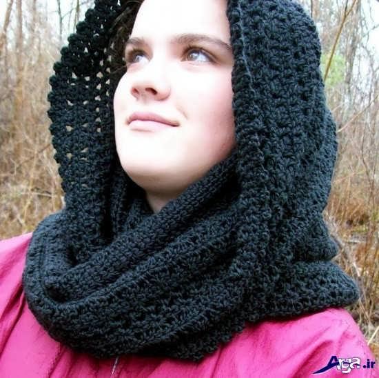 مدل شال گردن بافتنی دخترانه بسیار شیک