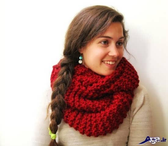 انواع مدل شال گردن دخترانه قرمز