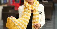 مدل شال گردن بافتنی دخترانه بسیار زیبا