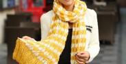 مدل شال گردن بافتنی دخترانه با طرح های فانتزی و جذاب