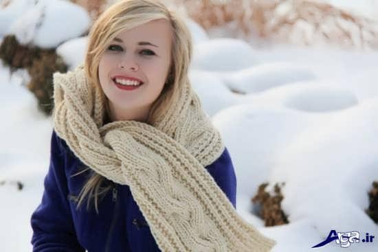مدل زیبای شال گردن دخترانه