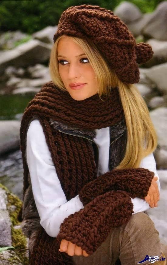 انواع زیبای مدل شال گردن بافتنی دخترانه