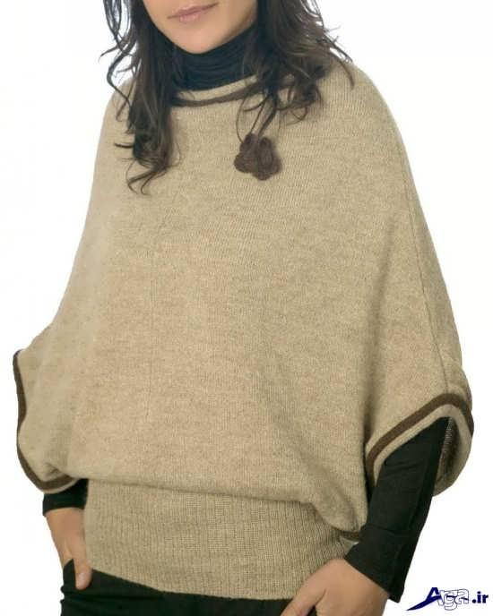 انواع شنل بافتنی دخترانه