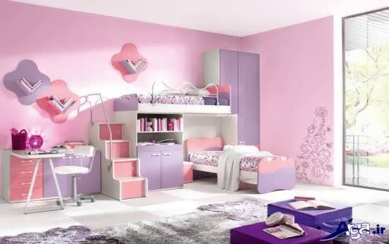 اتاق خواب دخترانه زیبا و جذاب