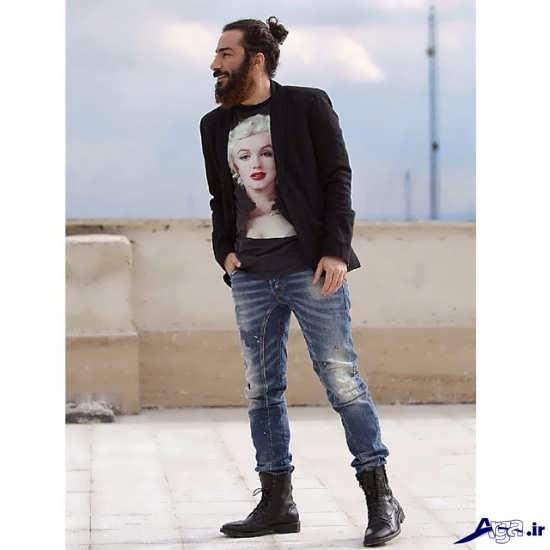 نوید محمدزاده با چهره جدید و متفاوت