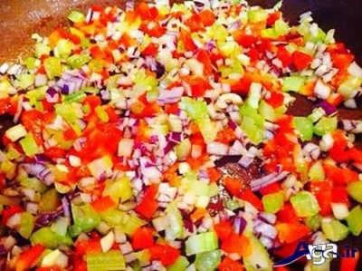 تفت دادن سبزیجات مختلف