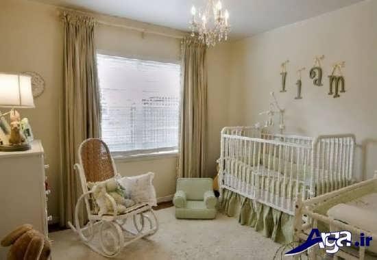 دیزاین اتاق نوزاد دختر با طرح های شیک و کاربردی